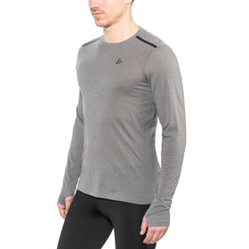 Craft Urban Run LS Wool Shirt Men dk grey melange
